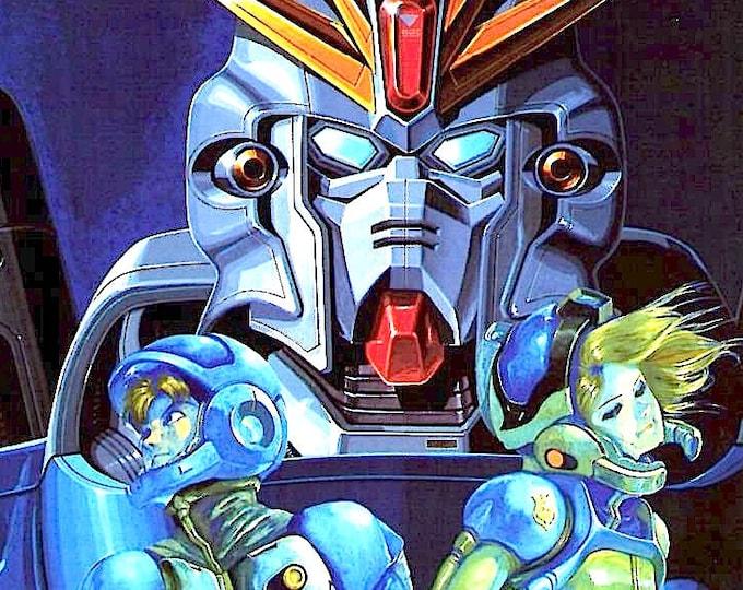 Mobile Suit Gundam F91 | 90s Anime Classic | 1991 original print | vintage Japanese chirashi film poster