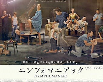 Nymphomaniac (C) | Erotic Art Cinema, Willem Dafoe, Lars von Trier | 2014 original print | Japanese chirashi film poster