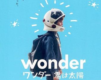 Wonder   US Cinema, Julia Roberts, Jacob Tremblay   2018 original print   Japanese chirashi film poster