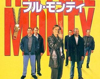 The Full Monty | 90s British Classic, Robert Carlyle | 1997 original print | Japanese chirashi film poster