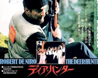 Deer Hunter (A) | 70s American Classic, Robert De Niro | 1988 print | Japanese chirashi film poster