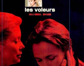 Thieves | 90s French Cinema, Catherine Deneuve, Daniel Auteuil | 1997 original print | Japanese chirashi film poster