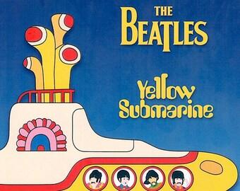 Yellow Submarine | 60s British Animation, The Beatles | 1999 print | Japanese chirashi film poster