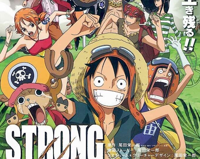 One Piece: Strong World   Japan Anime Series   2009 original print   Japanese chirashi film poster