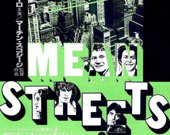 Mean Streets | 70s Cult Classic, Robert De Niro, Martin Scorsese | 1980 original print | vintage Japanese chirashi film poster