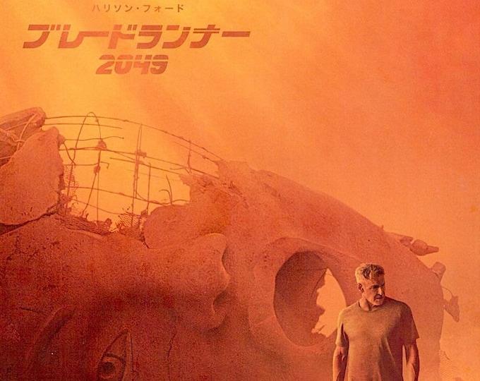 Blade Runner 2049   Sci Fi Neo Noir, Ryan Gosling, Harrison Ford   2017 original print   Japanese chirashi film poster