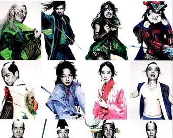 Punk Samurai   Japan Cinema, Ayano Go, Tadanobu Asano   2018 original print   Japanese chirashi film poster