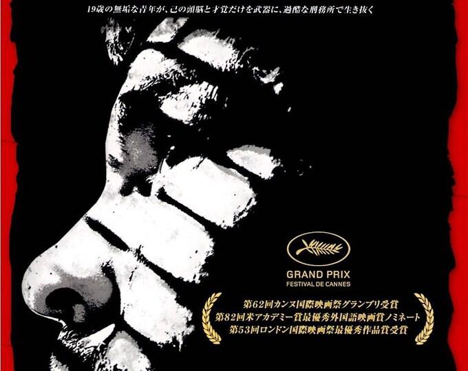 A Prophet   French Cinema, Jacques Audiard, Tahar Rahim   2012 original print   Japanese chirashi film poster