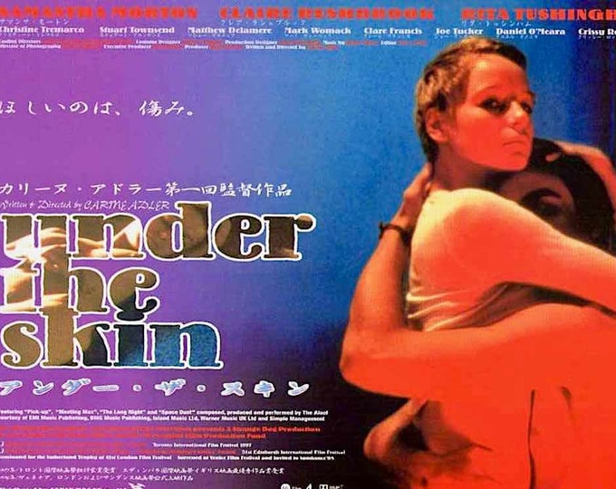 Under The Skin | 90s UK Classic, Carine Adler, Samantha Morton | 1999 original print | vintage Japanese chirashi film poster