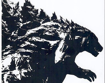 Godzilla: Planet of the Monsters | Japan Anime | 2017 print | Japanese chirashi film poster