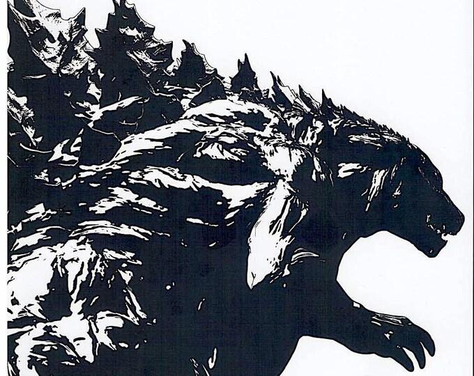 Godzilla: Planet of the Monsters   Japan Anime   2017 print   Japanese chirashi film poster