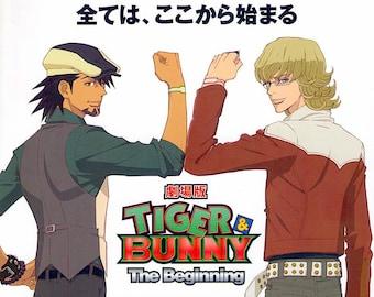 Tiger and Bunny | Japan Anime | 2012 original print | Japanese chirashi film poster