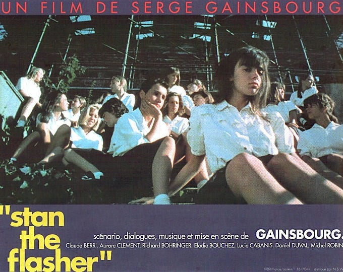 Stan The Flasher | 80s French Cinema, Serge Gainsbourg | 1995 print | vintage Japanese chirashi film poster