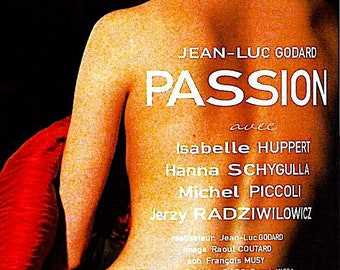 Passion | 80s French Cinema, Isabelle Huppert, Jean-Luc Godard | 2002 print | Japanese chirashi film poster