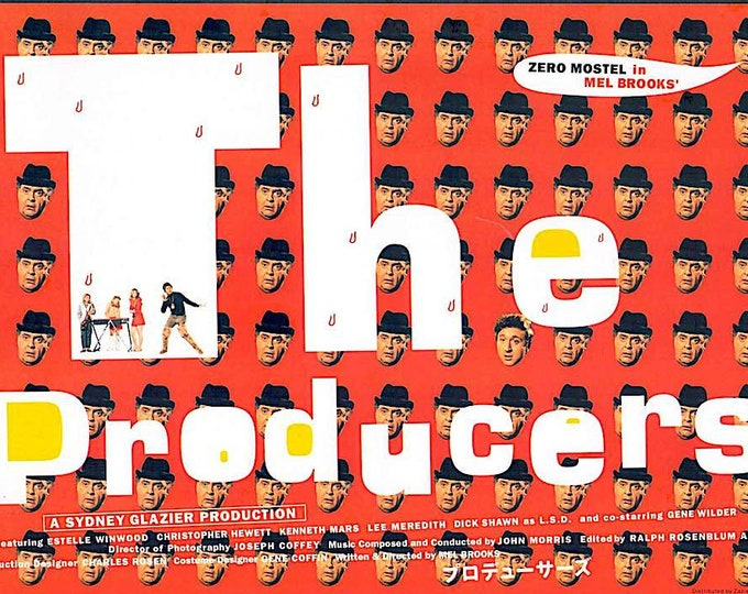 The Producers | 60s Cult Classic, Mel Brooks | 2001 print | Japanese chirashi film poster