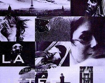 La Jetee | 60s French Art Cinema, Chris Marker | 1999 print | vintage Japanese chirashi film poster
