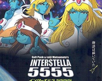 Interstella 5555 | Daft Punk + Leiji Matsumoto Anime | 2004 original print | Japanese chirashi film poster