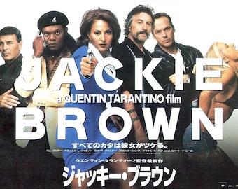 Jackie Brown | 90s American Cinema, Pam Grier, Quentin Tarantino | 1997 original print | vintage Japanese chirashi film poster