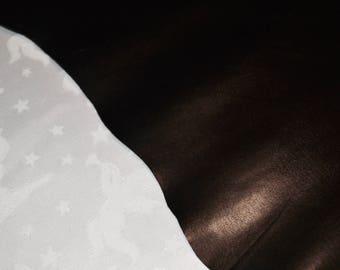 Beautiful black cowhide leather skin