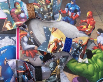 Avengers Book Page Bow-Waterproof