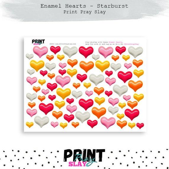 Enamel Heart Printables Bible Journaling Printable Hearts