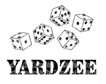 YARDZEE Graphics Only, YARDZEE svgs, Yardzee Graphics, Yard Dice