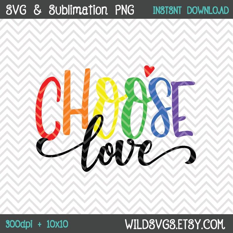 Choose Love PRIDE LGBTQ Pride Month Gay Lesbian Bi image 0