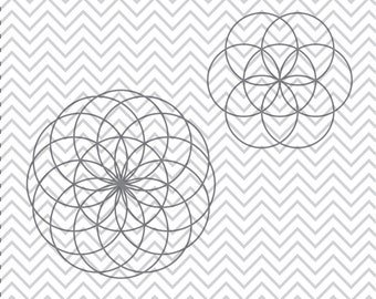Seed of Life SVG, Sacred Geometry SVGs, Seed of Life clipart, Seed of Life cuttable, SVGs, Cricut Cut File, Silhouette File