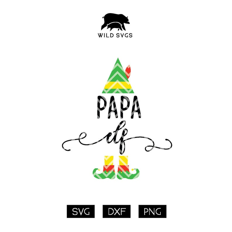 Papa Elf Cut File Daddy Elf Elf Elf Clipart Elf Cuttable image 0