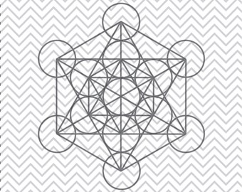 Metatron's Cube SVG, Sacred Geometry SVGs, Metatron's Cube clipart, Metatron's Cube cuttable, SVGs, Cricut Cut File, Silhouette File
