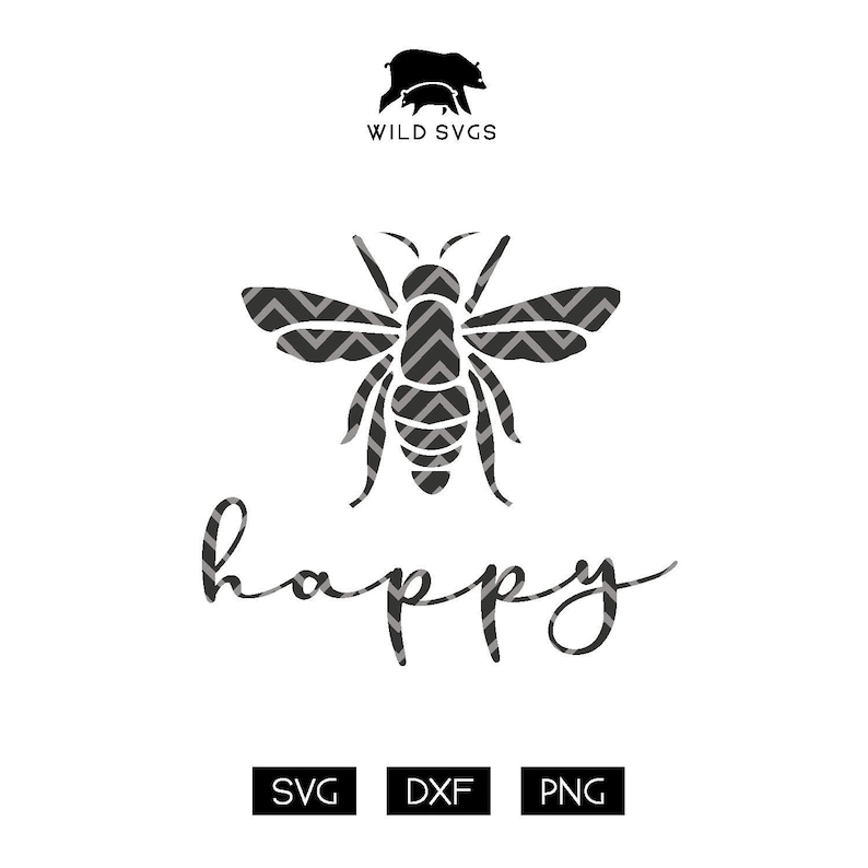 Bee Happy Cuttable File Bees SVGs Bee SVGs Save the Bees image 0