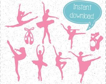 Ballet SVGs, Ballet Dancer SVG, Ballet Silhouettes, SVGs, SVGs, Cricut Cut File, Silhouette File
