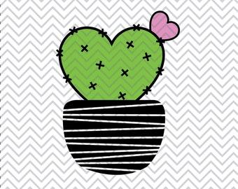 Cactus SVG, Cactus Clipart, Succulent Clipart, Valentine's SVG, cacti svg, valentine's day svg, SVGs, Cricut Cut File, Silhouette File