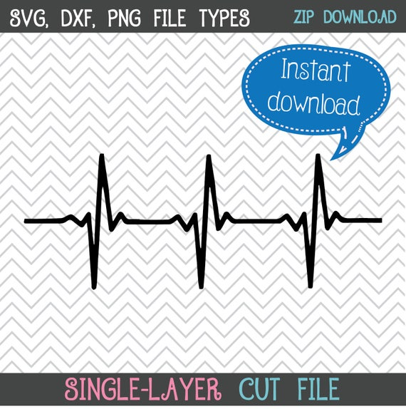 Heartbeat Svg Heartbeat Graphic Heartbeat Png Patient Etsy