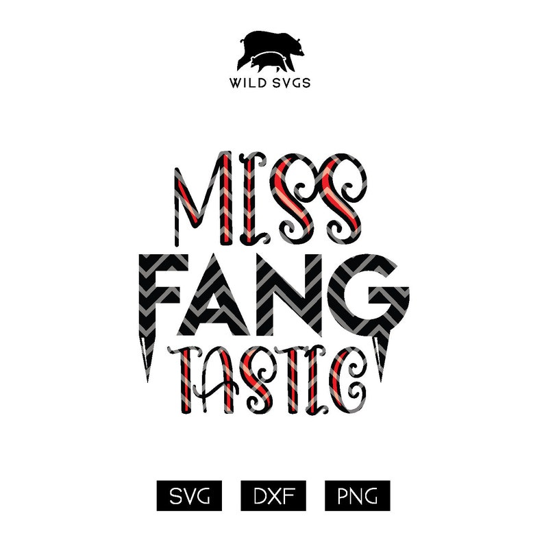 Miss Fang Tastic SVG Vampire svg Fangs svg Little Miss image 0