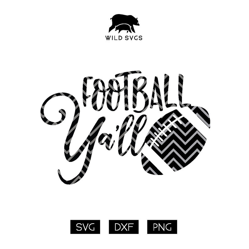 Football Ya'll SVG Football Season Football Clipart image 0