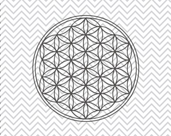 Flower of Life SVG, Sacred Geometry SVGs, Flower of Life clipart, Flower of Life cuttable, SVGs, Cricut Cut File, Silhouette File