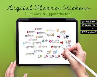 35 Pet Digital Planner Stickers
