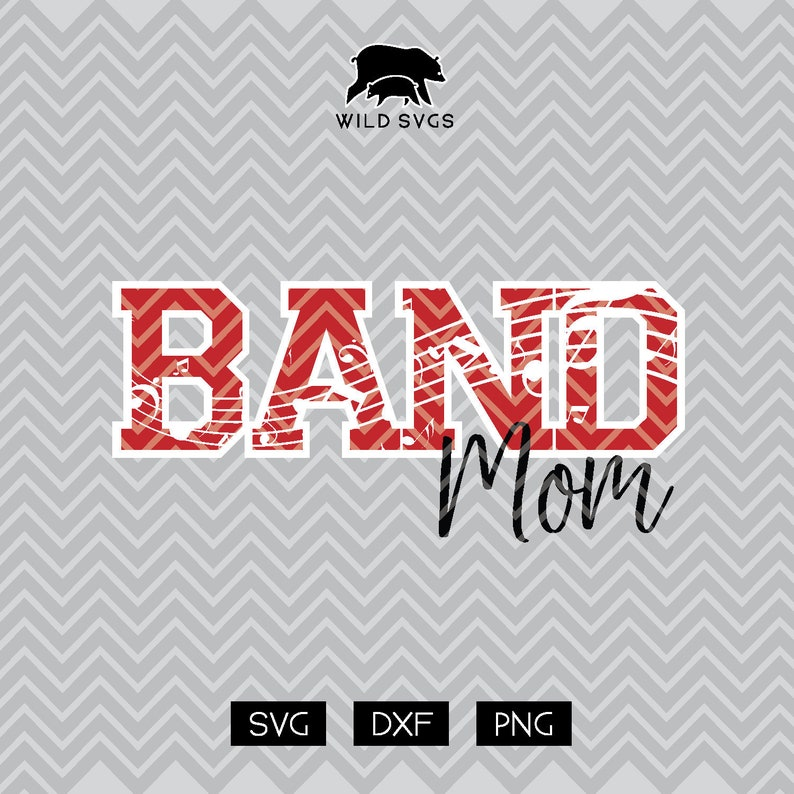 Band Mom SVG School Band Marching Band Cuttables image 0