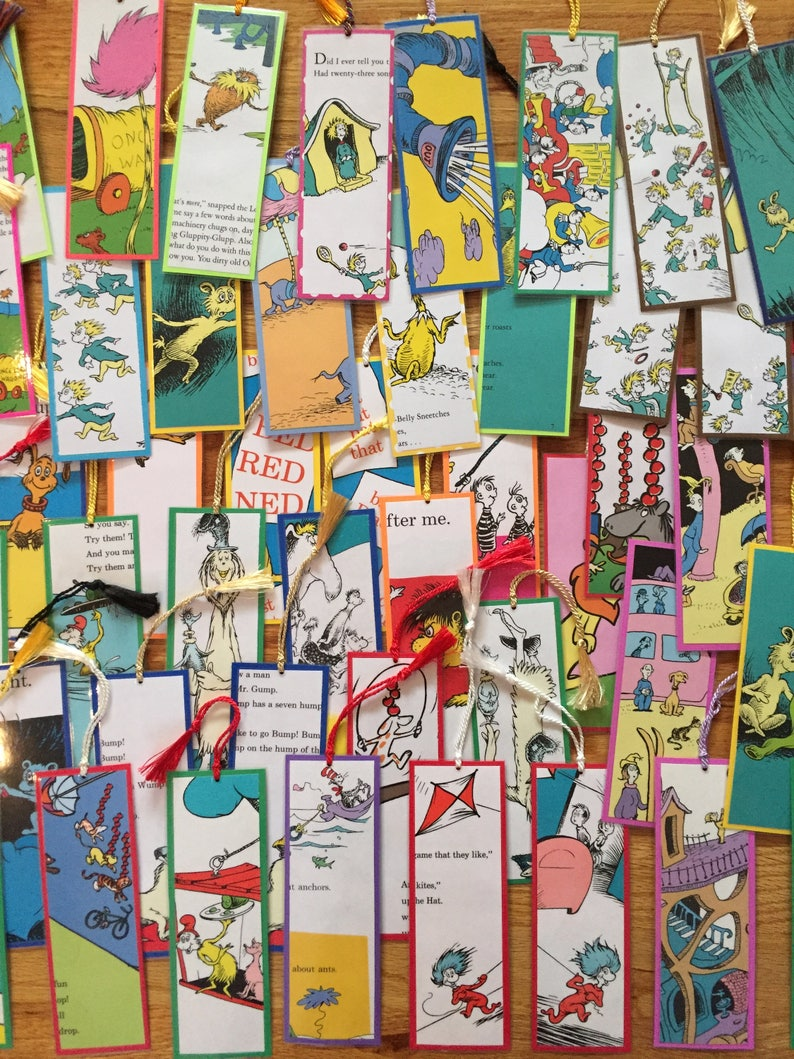 Classroom Or Birthday Party Set Of Dr Seuss Bookmarks For Teachers And Students Great Back To School Teacher Student Gifts