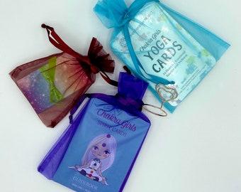 Mindful Gift for Kids | Card Deck Gift Set | Tween Girl Gifts | Oracle Cards, Yoga Cards, Affirmation Cards