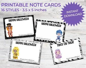 Halloween Printable Notecards Chakra Kids | Instant Download