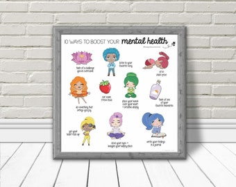 Ways to Build Your Mental Health Printable Poster | Mental Health Instant Download