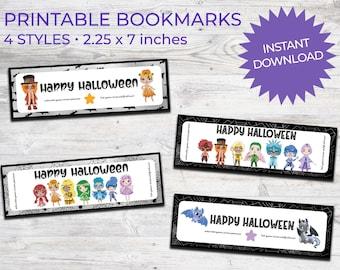 Halloween Printable Bookmarks Chakra Kids | Instant Download