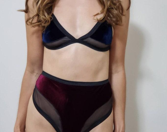 Goddess Collection: Selene Velvet Lingerie Set