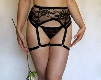 LIMITED - Goddess Collection: Persephone Lace and Ruffle Thong (Thong only)
