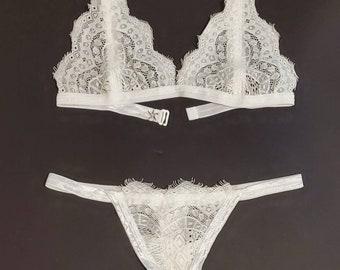 White Lace Lingerie Set