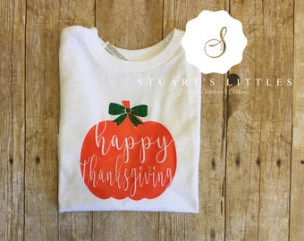 Happy Thanksgiving Pumpkin Shirt