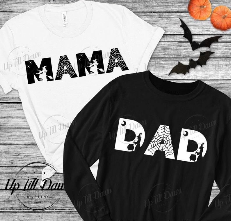 Halloween Family SVG Mama and Dada Halloween SVG Spooky Mom Dad SVG