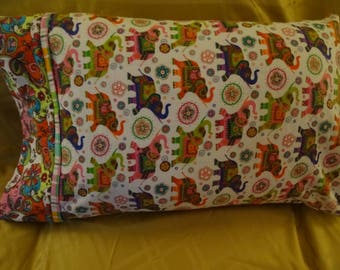 Psychedelic Pachyderm Pillowcase